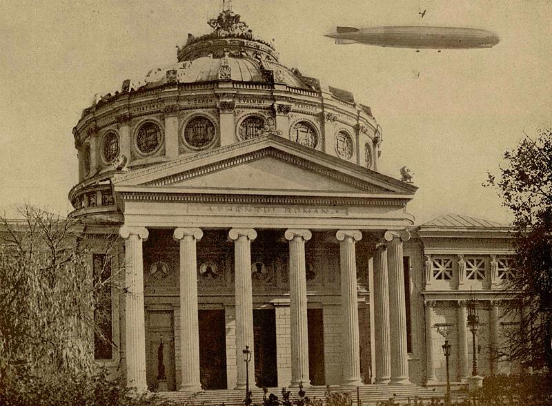 zeppelin ateneul roman ilustratiunea romana 24 octombrie 1929