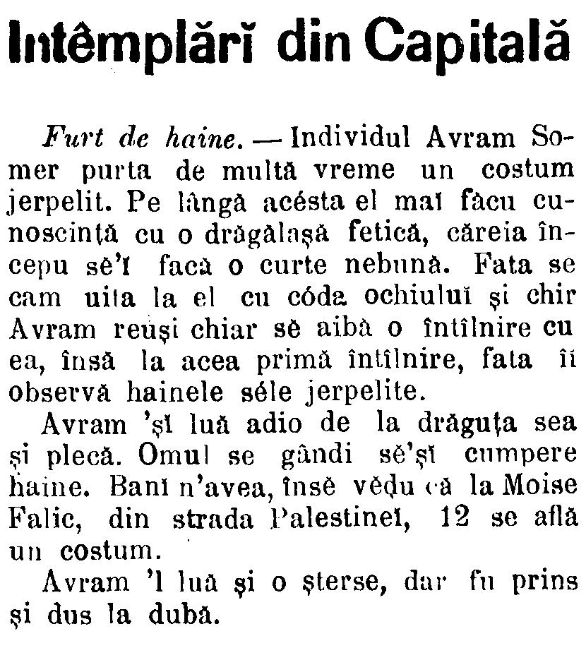 Telegraful, 26 mai 1886 - Furt de haine