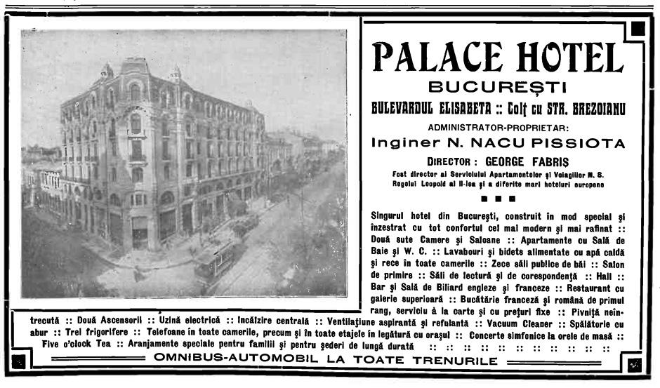 Hotel Palace - Sursa Gazeta Ilustrată, august 1913