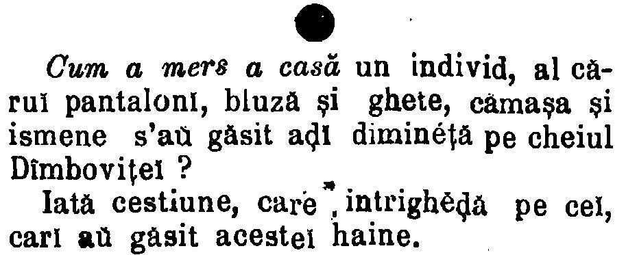Telegraful, iunie 1888 - fara haine in Dimbovita
