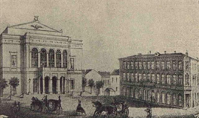 Piata Teatrului National(1856)
