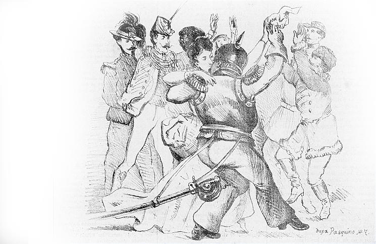 Petreceri în Bucureștii secolului XIX - Ghimpele, 17 februarie 1874