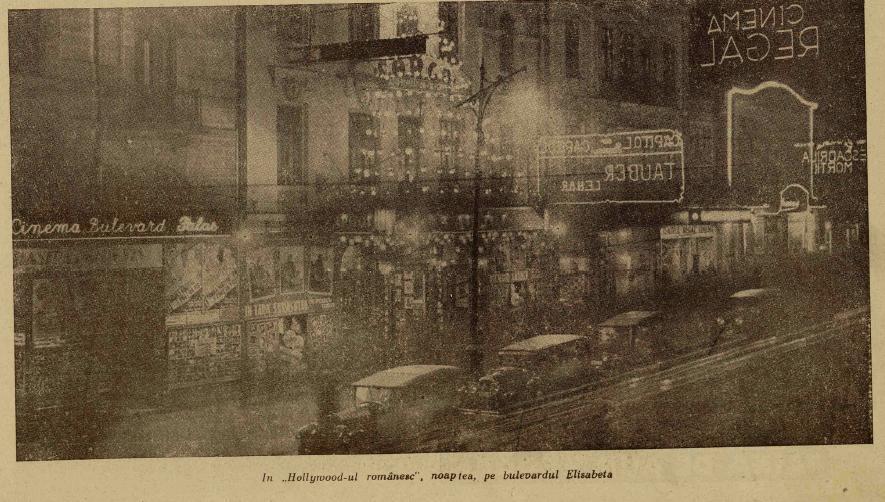 Bulevardul Elisabeta perioada interbelica Ilustrațiunea Română 14 mai 1931