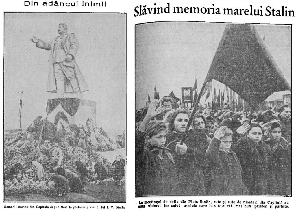 Scânteia 10 martie 1953 - moartea lui Stalin