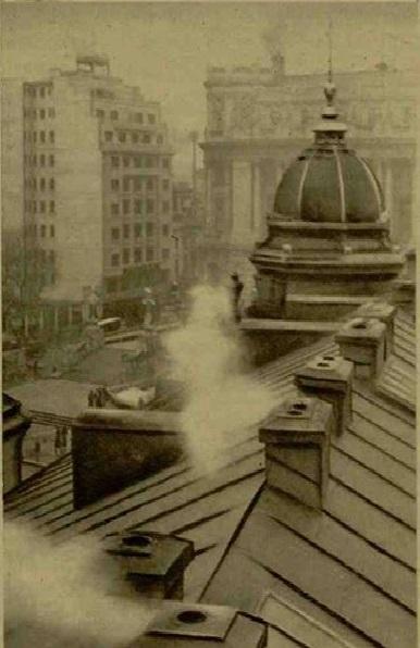 """Perspectivă inedită asupra Bucureștilor de pe acoperișul Capșei în 1936. Sursa foto: """"Realitatea ilustrată"""""""