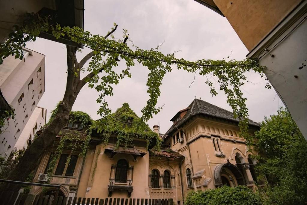 casa neoromaneasca acoperita de vegetatie