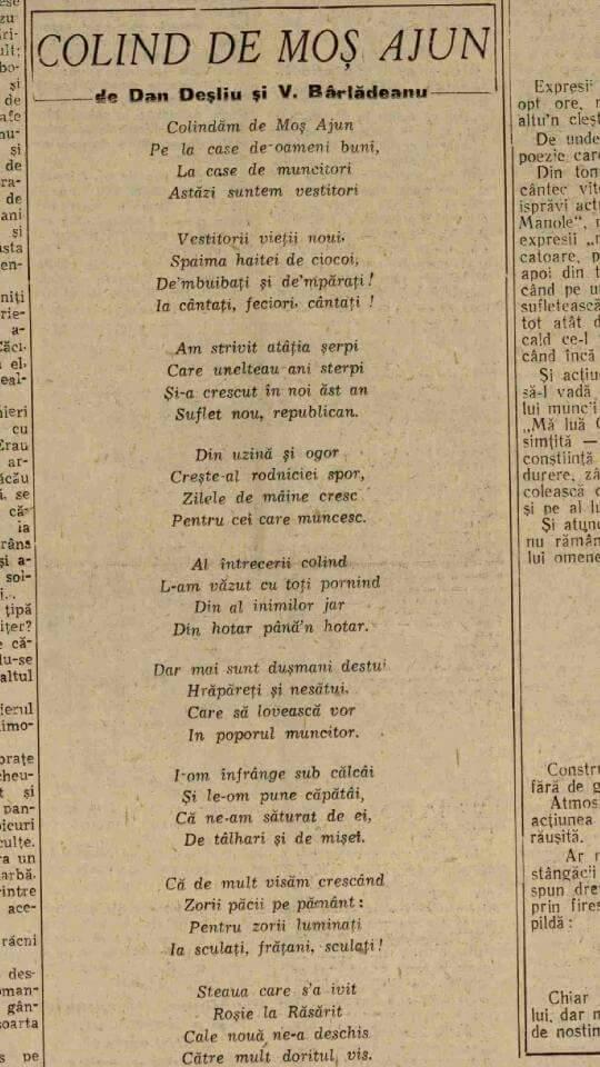 """Colind din """"Scânteia"""", 24 decembrie 1948"""